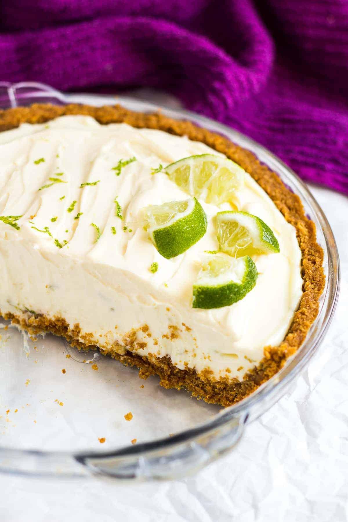 No Bake Key Lime Pie I Am Baker