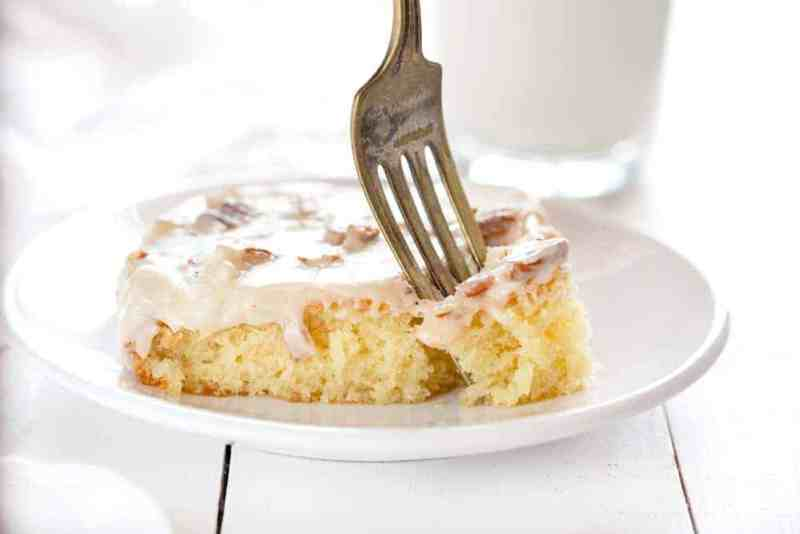 White Almond Sheet Cake