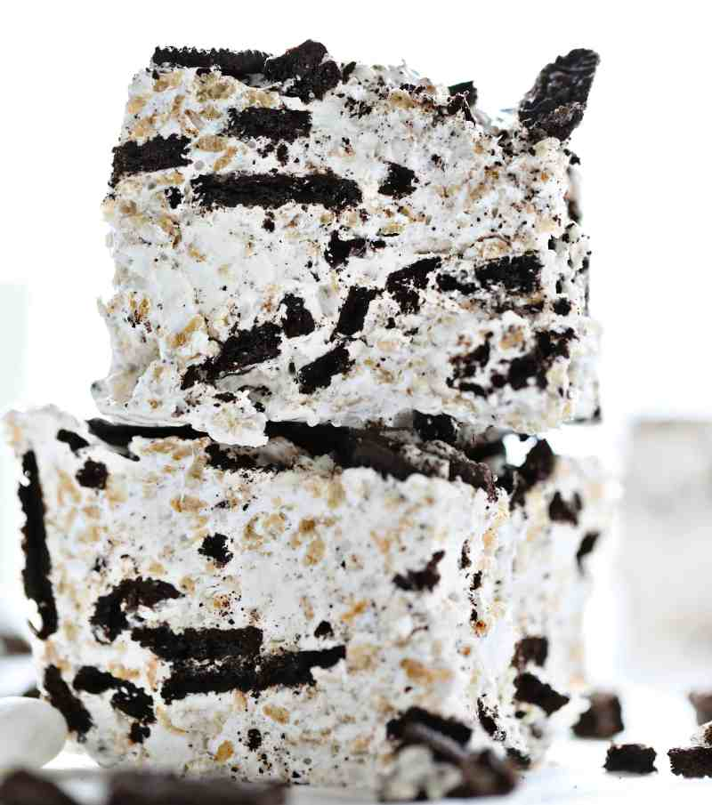 Mile-High Oreo Rice Krispy Bars
