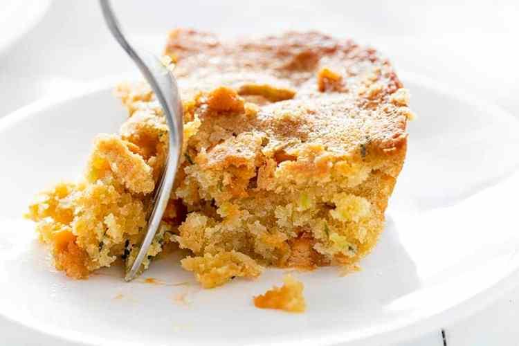 Put a fork in your scrumptious Butterscotch Zucchini Bar, then enjoy!