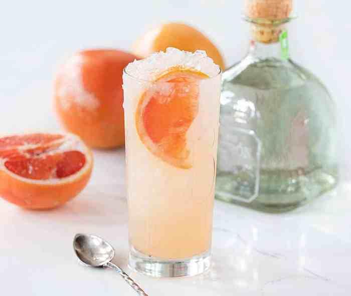 Glass of Homemade Paloma