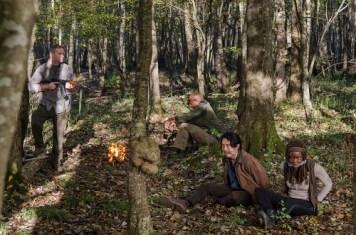 Steven Yeun as Glenn Rhee; Danai Gurira as Michonne - The Walking Dead _ Season 6, Episode 15 - Photo Credit: Gene Page/AMC