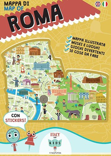 Map Of Italy For Children.Italy For Kids Map Of Rome Mappa Di Roma