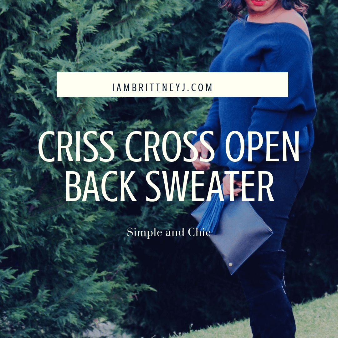 Criss Cross Open Back Sweater