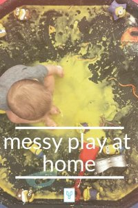 messy play at home