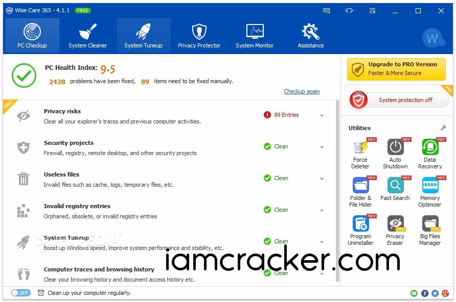 Wise Care 365 Pro 4.91.472 Crack Full Keygen | Latest Portable