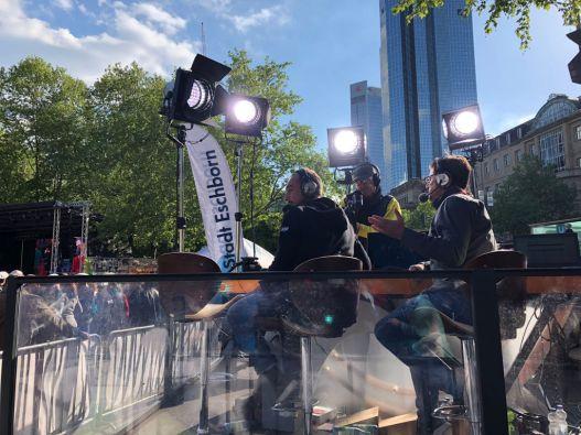 John Degenkolb und Florian Naß kommentieren den Radklassiker Eschborn-Frankfurt