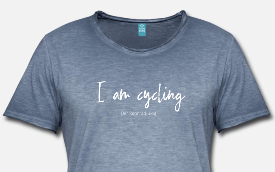 T-Shirt I am cycling aus dem. neuen Shop