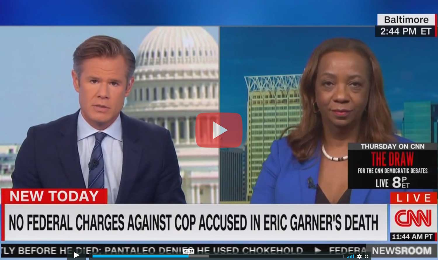 CNN – No Federal Charges to be Filed in Eric Garner Case