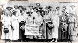 The headquarters of Colored Women Voters, located in Georgia, an early 20th-century suffragist organization