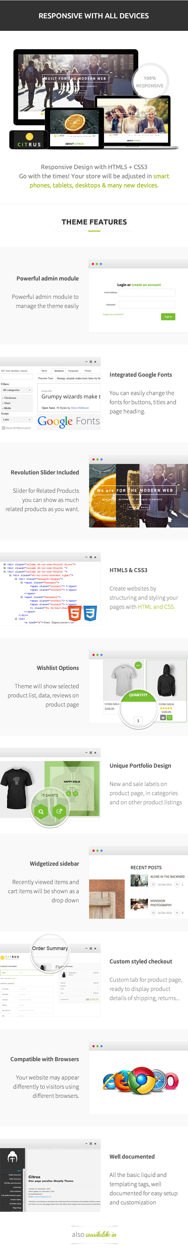 Citrus one page Shopify - 6
