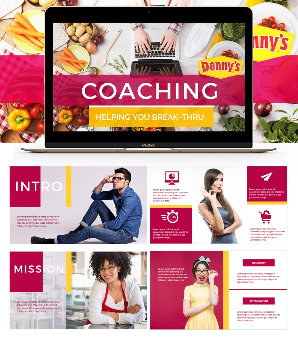 Coaching Powerpoint Presentation Design Iamgonegirldesigns premium graphic design templates