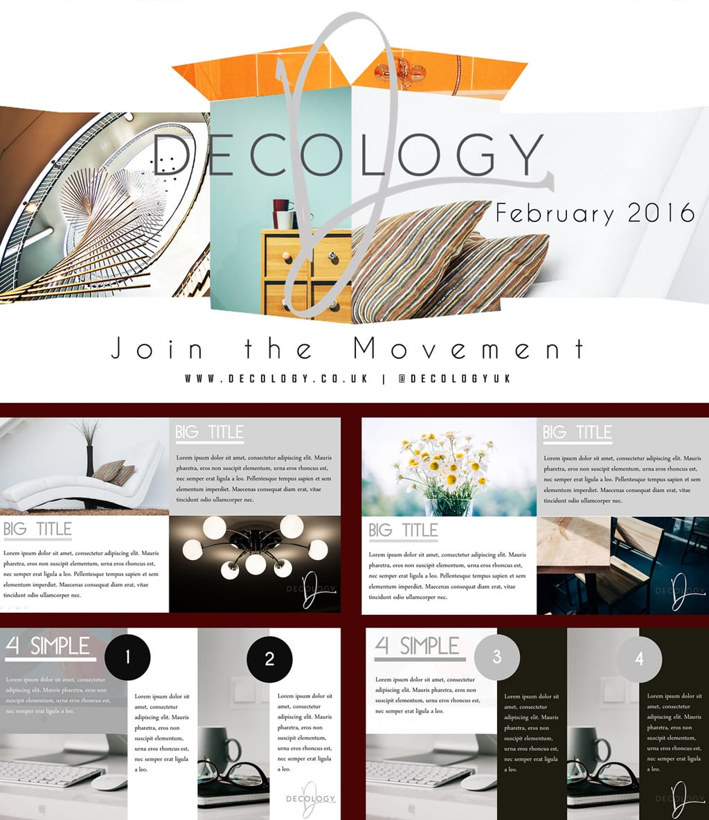 Decology beautiful powerpoint presentation design premium graphic design presentation template buy on sale