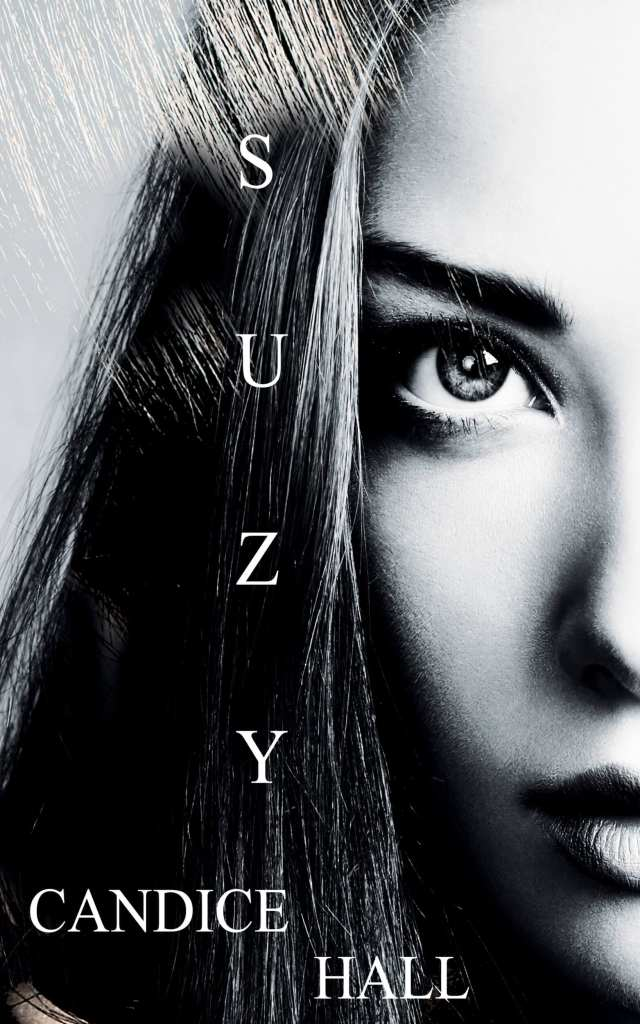 Suzy Psychological thriller ebook cover design by iamgonegirldesigns pretty eyes black and white girl face photography