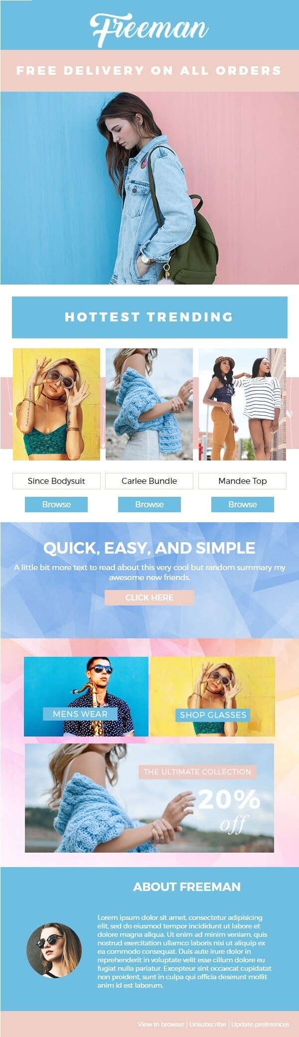 Freeman Fashion Premium Mailchimp Email Newsletter Template