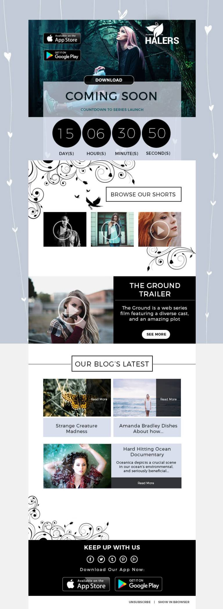 Film Photography Creative Photoshop Email Template IamGoneGirl Designs Photography   Creative Photoshop Email Newsletter Template Mailchimp Campaign Monitor Responsive Dark Best selling