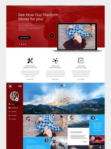 Social Media Feed Home Photoshop Ui/UxTemplate Main