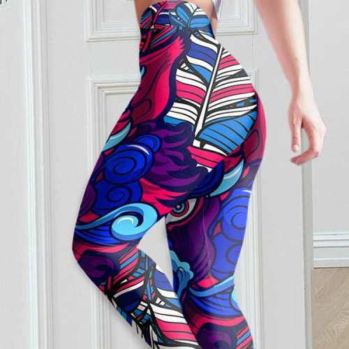 Beasts of Hidden Wild Multi-color Womens Yoga Pants/Leggings
