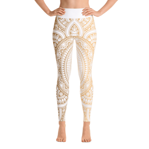 Golden Mandela Yoga Leggings