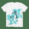 Geometric Blue Rebel Mermaid crew neck t-shirt