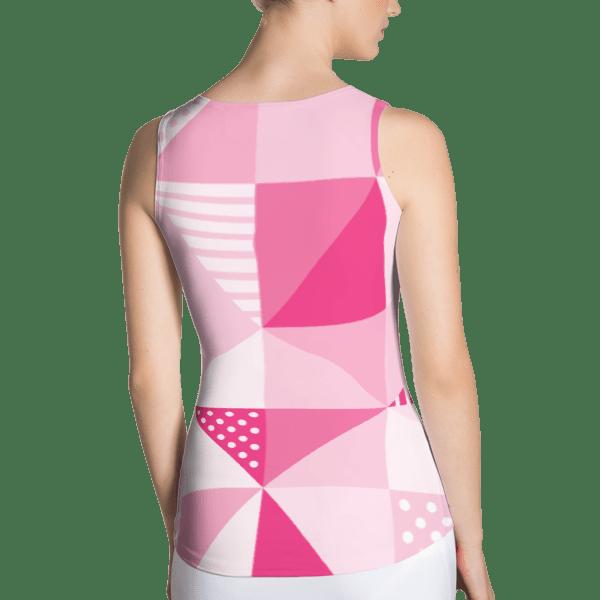 Geometric Pink Tank Top