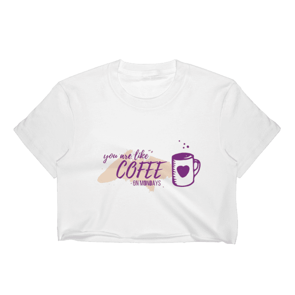 Coffee Mondays Crop Top