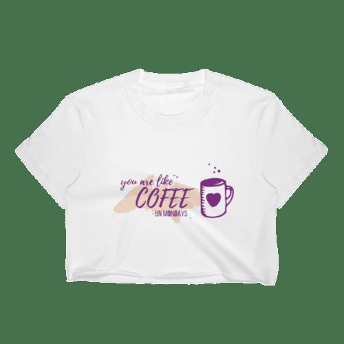 Coffee Mondays Crop Top