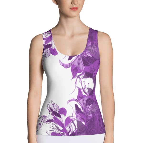 Painted Purple Floral Tank Top