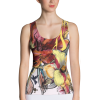 Abstract Painted Floral Tank Top