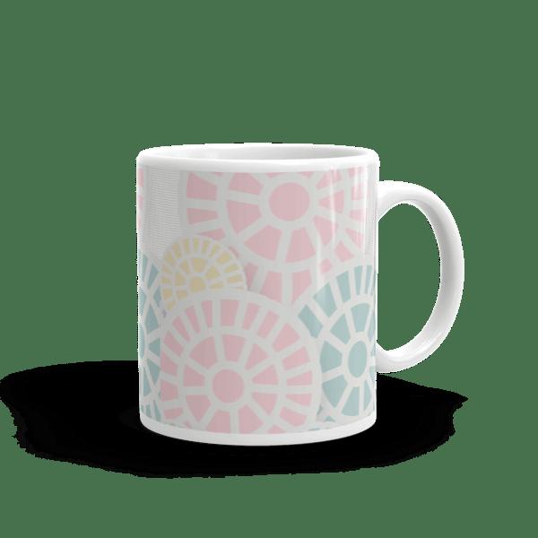 Multi-Colored Floral Lollipops Mug