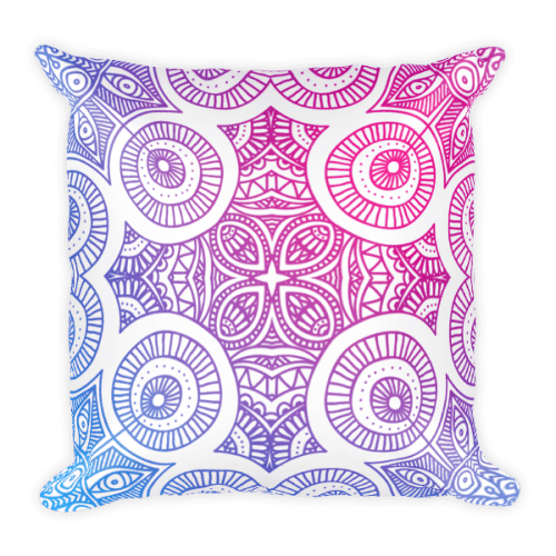 Abstract Gradient Mandela Square Pillow