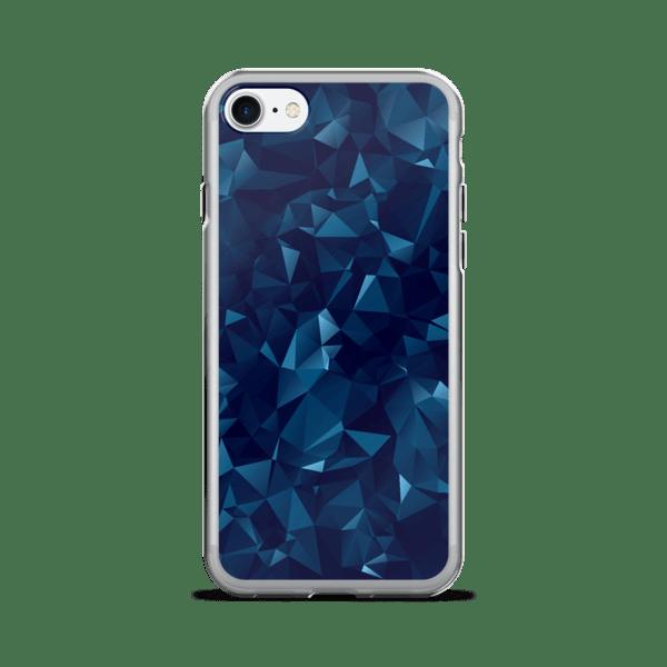 Blue Dark Geometric Mesh iPhone 7/7 Plus Case