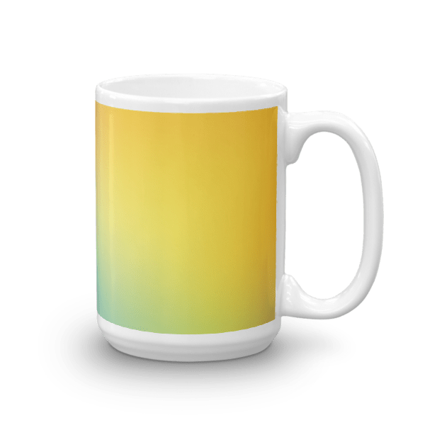 Gradient Yellow, and Blue Mug