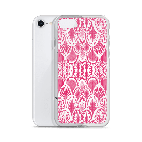 Abstract Hearts Pink iPhone 5/6/7/8/X Case