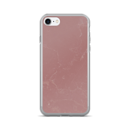 Marble Texture Vintage Rose Pink iPhone 7/7 Plus Case