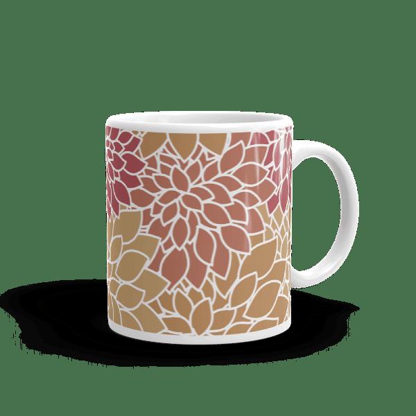 Abstract Leafy Multi-color Mug