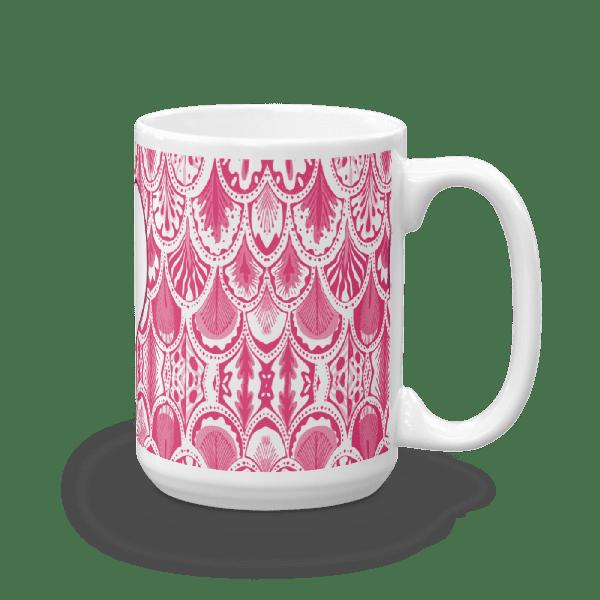Abstract Hearts Pink Mug