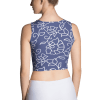 Blue and White Floral Pattern Crop Top
