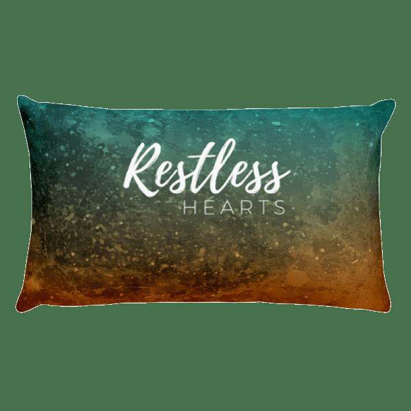 Restless Hearts Rectangular Pillow