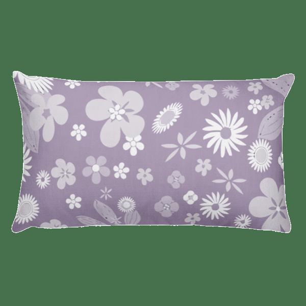 Floral Pale Purple Rectangular Pillow