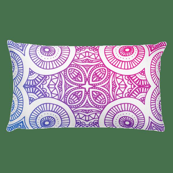 Abstract Gradient Mandela Pillow