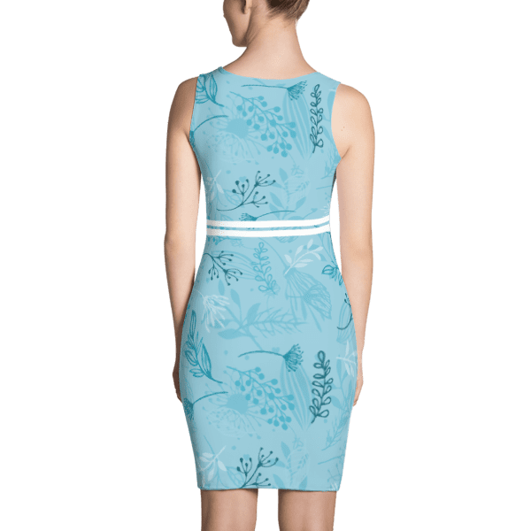 Blue Fall Leaves Dress