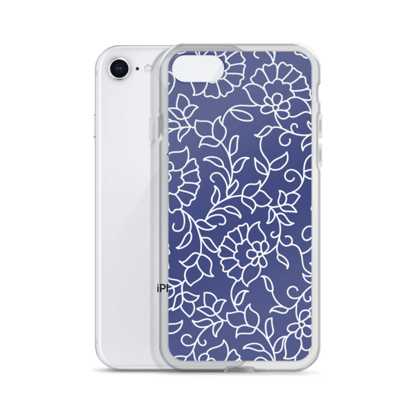 Blue and White Floral Pattern iPhone 5/6/7/8/X Case