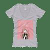 Shy Girl Pink V-Neck T-shirt