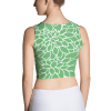Abstract Leafy Green fitted Crop Top