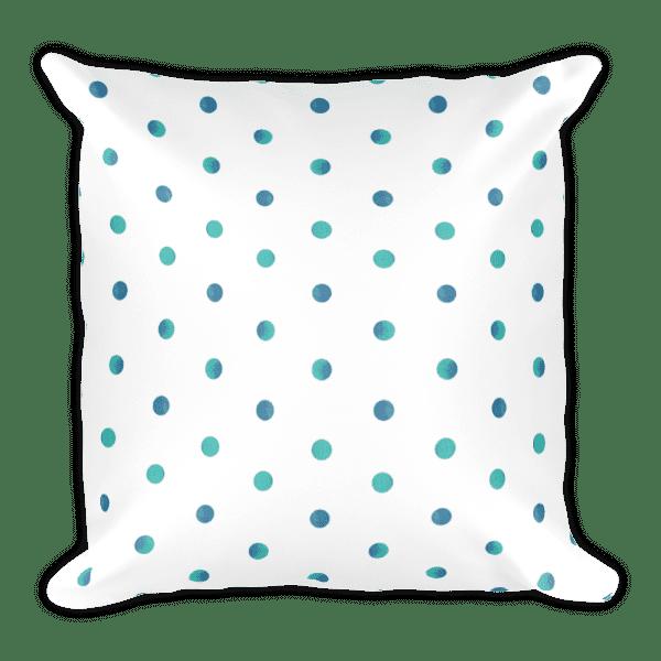 Watercolor Polka Dot Square Pillow