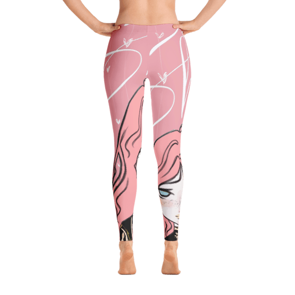 Beautiful pink shy girl collection leggings GonegirlDesigns