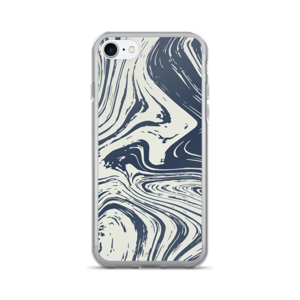 Marble Swirl Texture Dark Tone iPhone 7/7 Plus Case