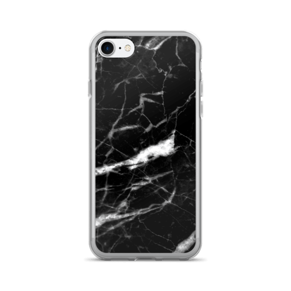 Marble Rock Texture Shattered Black iPhone 7/7 Plus Case