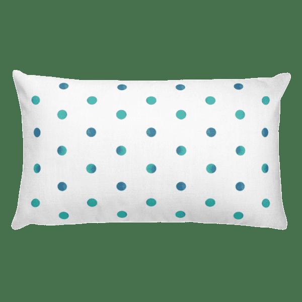 Watercolor Polka Dot Rectangular Pillow